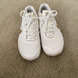 Nike metcon 4s, white and gold